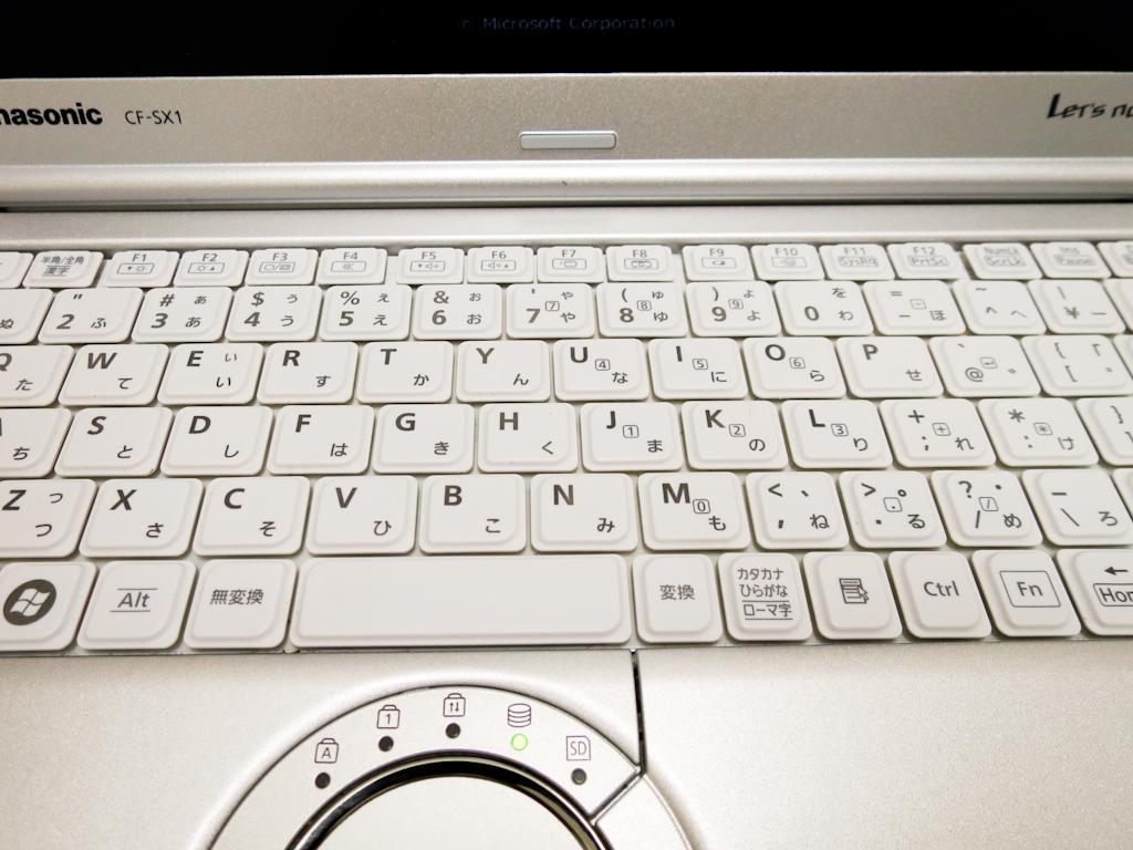 SX1のキーボード