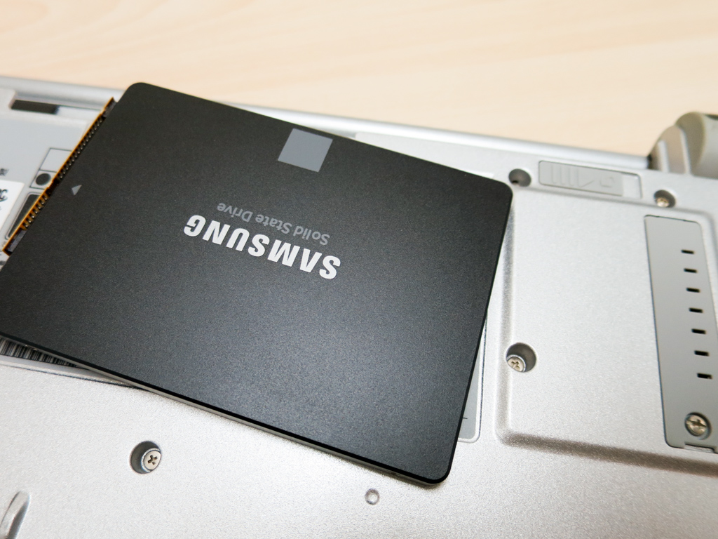 Let's note SX1にSAMSUNG製SSDを換装
